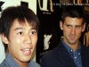 Kei Nishikori and Novak Djokovic