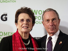 Billie Jean King and NYC Mayor Mike Bloomberg