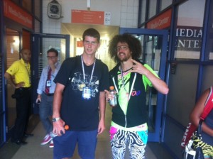 Dennis Novikov with Redfoo