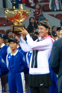Azarenka with China Open trophy