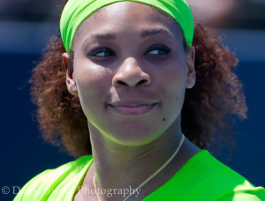 Serena Williams after winning (3 of 3)