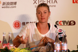 Maria Sharapova 10062012 China Open Sharapova in press with pocket book part 2