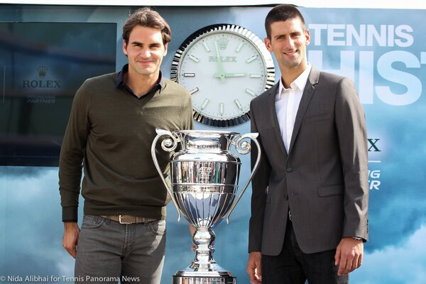 Federer and Djokovic Dubai