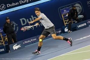 Federer dubai running