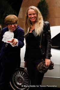 &quot;Austin Powers&quot; and Caroline Wozniacki