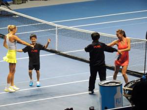 Wozniacki Radwanska at BNP Paribas Showdown Hong Kong