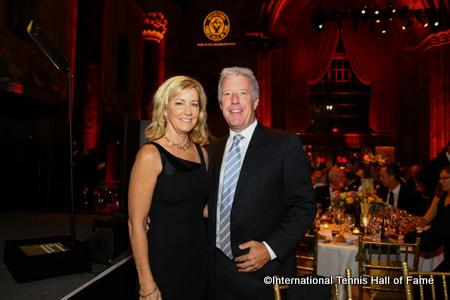Chris Evert with Jamie Reynolds, Vice President, Event Production ESPN