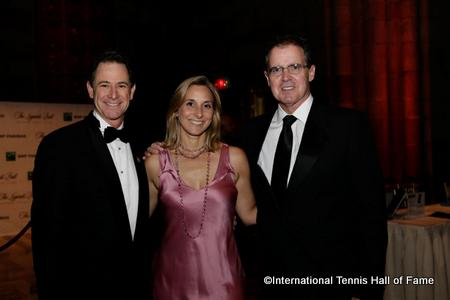 Tennis Channel's Ken Solomon, Collette Bennett of Rolex and Mark Stenning, CEO of the International Tennis Hall of Fame
