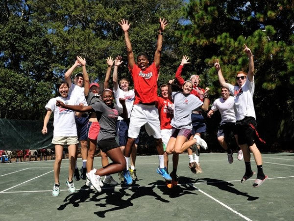 N.C. State celebrates its win over Duke. Photo by Peter Staples / USTA Tennis On Campus
