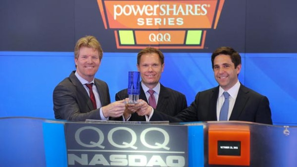 2014 PowerShares QQQ Tennis Tour Rings The NASDAQ Stock Market Closing Bell
