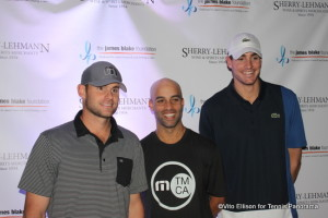 (L-R Andy Roddick, James Blake and John Isner)