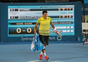 Bernard Tomic photo by Paul Gertler