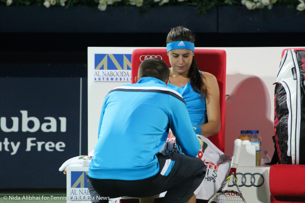 Cirstea with trainer