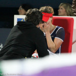 Cornet cries with coach