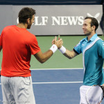Del Potro and Stepanek shake hands