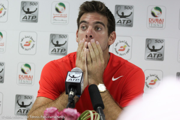 Del Potro in press