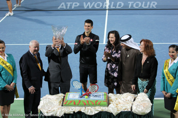 Djokovic with cake