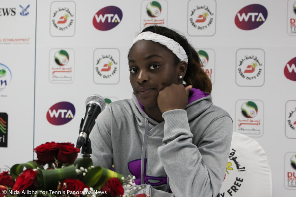 Sloanhe Stephens Dubai Press