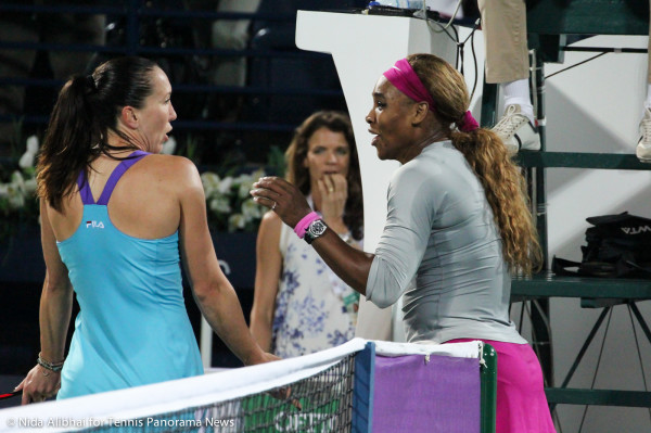 Jankovic and Serena at net 2