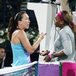 Jankovic and Williams at net