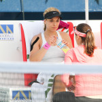 Lisicki with trainer