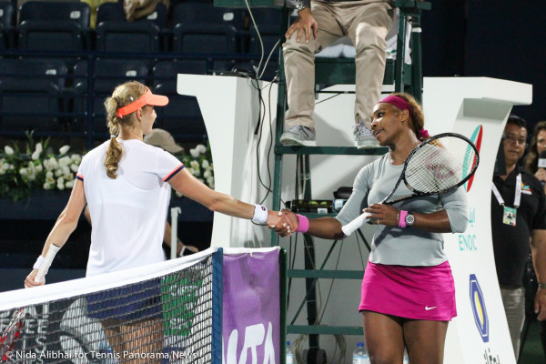 Makarova- S. Williams handshake