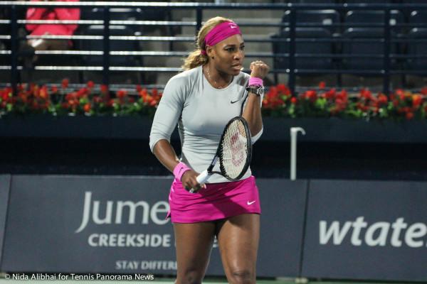 Serena fistpump
