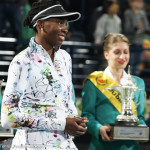 Venus at trophy ceremony