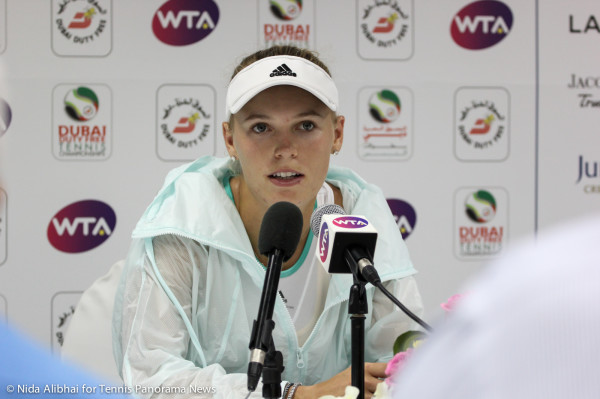 Wozniacki in press
