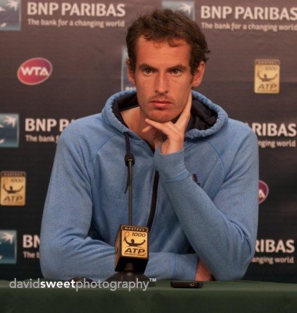 Andy Murray in press