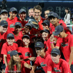 Federer and the ball kids