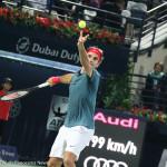 Federer service toss