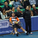 Hewitt sits in kinesmand chair