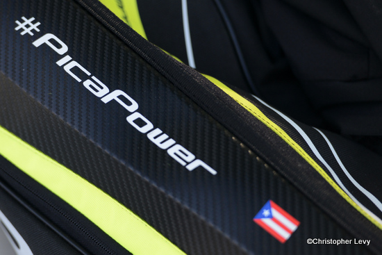 Monica Puig racquet bag pica power wed
