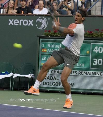 Nadal falls back