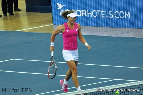 Stosur on court