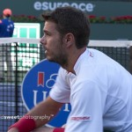 Wawrinka on changeover