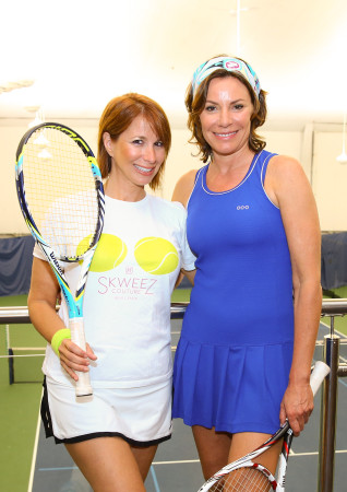 LuAnn de Lesseps and Jill Zarin photo by Mike LeBrecht USTA