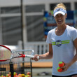 Alison Riske at  Kid's clinic at Citi Open. Photo by Christopher Levy @tennis_shots