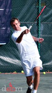 Wilander Playing Tennis