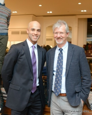 James Blake (L) and Brooks Brothers CEO Claudio Del Vecchio (R)