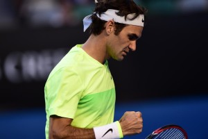Federer fistpump