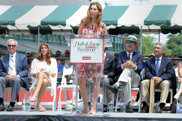 Monica Seles at 2012 hall of Fame induction