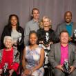 Photo by Fred and Susan Mullane  Standing L-R: Jeri Ingram, Jesse and Pam Ponwith, Malivai Washington; Sitting L-R: Connie Ebert, Katrina Adams, Harlon Matthews
