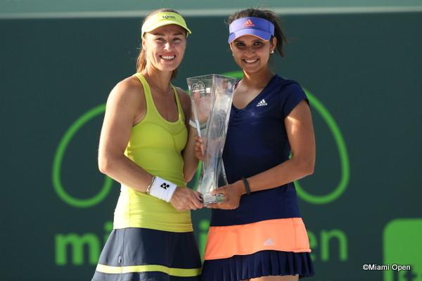 Miami Open Tennis - Day 14 Hingis and Mirza