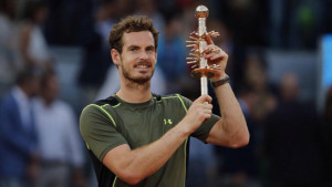 Andy Murray with Madrid trophy